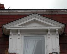 Pediment detail, St. Joseph's Glebe House, St. Joseph's, Nova Scotia, 2009.; Heritage Division, N.S. Dept. of Tourism, Culture and Heritage, 2009