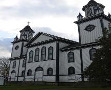Façade, Sainte Anne's Catholic Church, Sainte-Anne-du-Ruisseau, NS, 2009.; Heritage Division, NS Dept. of Tourism, Culture & Heritage, 2009.