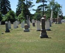 Of note is the mixture of historic and modern headstones.; Kendra Green, 2007.