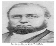 "Dr. John Knox, pastor from 1842-1874; Reuben Butchart's ""Disciples of Christ in Canada"""