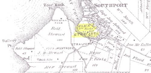 Location of William Burke's Glen Stewart Farm