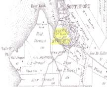 Location of William Burke's Glen Stewart Farm; Meacham's Illustrated Historical Atlas of PEI, 1880