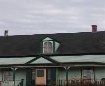 Dormer window, MacLeod-Haig-MacDonald House, Strathlorne, Nova Scotia; Heritage Division, NS Dept. of Tourism, Culture and Heritage, 2002