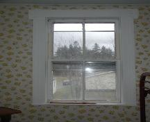 Interior window detail, MacLeod-Haig-MacDonald House, Strathlorne, Nova Scotia; Heritage Division, NS Dept. of Tourism, Culture and Heritage, 2002