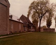 General view of the Caughnawaga Presbytery and grounds, 1966.; Parks Canada Agency / Agence Parcs Canada, 1966.