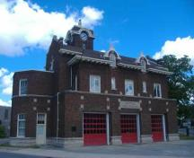 Central Fire Hall from the corner of Division Street and Hellems Avenue; Photo taken by Callie Hemsworth, Brock University, 2007