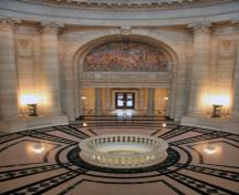 Interior view of the Manitoba Legislative Building, Winnipeg, 2009; Historic Resources Branch, Manitoba Culture, Heritage and Tourism, 2009