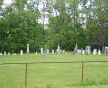 Of note are the marble and granite headstones of some of Markham's early settlers.; Kirsten Pries, 2008.