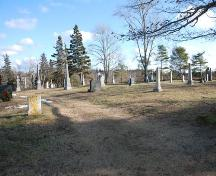 Southeastern View, Tusket Cemetery, Tusket, NS, 2009.; Heritage Division, NS Dept. of Tourism, Culture & Heritage, 2009.