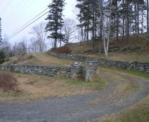 Curving Roadway Entry, Tusket Cemetery, Tusket, NS, 2009.; Heritage Division, NS Dept. of Tourism, Culture & Heritage, 2009.