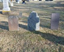 Gravestones, Tusket Cemetery, Tusket, NS, 2009.; Heritage Division, NS Dept. of Tourism, Culture & Heritage, 2009.