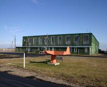 Main, West Facade of the Commonwealth Air Training Plan Hangar, Brandon area 2004; Historic Resources Branch, Manitoba Culture, Heritage and Tourism, 2004
