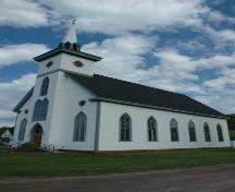 Front and Side Perspective, St. Margaret's Church, Arisaig, Nova Scotia, 2009.; Heritage Division, N.S. Dept. of Tourism, Culture and Heritage, 2009.