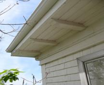 Showing detail of eave bracketting; City of Summerside, 2009
