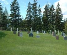 Cemetery, Holy Rosary Church, Ballantyne's Cove, Nova Scotia, 2009.; Heritage Division, N.S. Dept. of Tourism, Culture and Heritage, 2009.