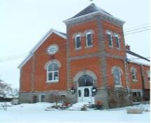 Of note is the 60-foot red-brick tower.; Municipality of Huron East, 2008.