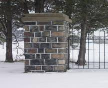 Featured is one of the stone posts.; Martha Fallis, 2008.
