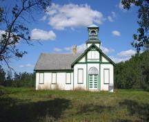 Primary elevation, from the south, of Tamarisk School, Grandview area, 2006; Historic Resources Branch, Manitoba Culture, Heritage and Tourism, 2006