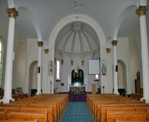 Interior view of the Historic église de l'Enfant-Jésus, Richer, 2007; Historic Resources Branch, Manitoba Culture, Heritage and Tourism, 2007