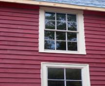 An upper storey window in the Port Joli Community Hall, Port Joli, NS.; NS Dept. of Tourism, Culture & Heritage, 2009