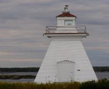 The south elevaton of the Port Medway Lighthouse, Port Medway, NS.; NS Dept. of Tourism, Culture and Heritage, 2009