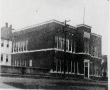 The old Coleman High School Provincial Historic Resource (circa 1937); Crowsnest Pass Museum, date unknown
