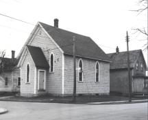Showing former church, c 1970; MacNaught Archives Acc. 018.236