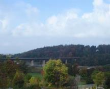 View looking west at the seven-span Menesetung Bridge.; Kayla Jonas, 2007.