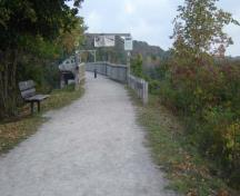 View looking north across the Menesetung Bridge, now a walking trail.; Kayla Jonas, 2007.
