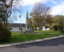 The Lockeport Cenotaph in its park setting, Town of Lockeport, NS; NS Dept. of Tourism, Culture & Heritage, 2009