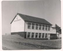 View of the Bayfield School after the 1950 expansion, Bayfield School, Bayfield, N.S.; Photo Courtesy of the Antigonish Heritage Museum.
