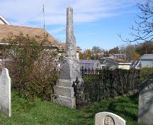 A Locke family plot surrounded by a cast iron fence in the Church Street Cemetery, Town of Lockeport, NS.; NS Dept or Tourism, Culture & Heritage, 2009