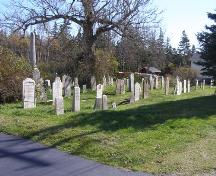 A northwest perspective view into the Church Street Cemetery, Town of Lockeport, NS.; NS Dept or Tourism, Culture & Heritage, 2009