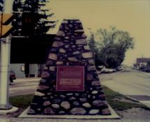 General view of the plaque at Port Stanley National Historic Site of Canada, 1989.; Parks Canada Agency / Agence Parcs Canada, 1989.