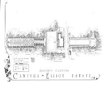 Plan of the fomer gardens and landscape features of the Cawthra-Elliot Estate.; Recreation and Parks, City of Mississauga