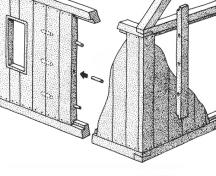 Illustration showing the principle behind upright plank construction; Bernard LeBlanc