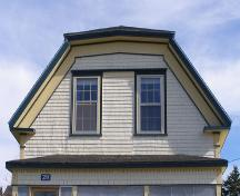 Detail of the front gable of the James Atkins House in the Town of Lockeport, NS.; NS Dept. of Tourism, Culture & Heritage, 2009