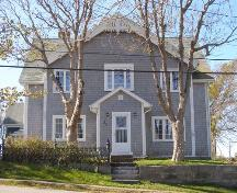 The front (east) facade of the Lewis P. Churchill House in the Town of Lockeport, NS.; NS Dept. of Tourism, Culture & Heritage, 2009