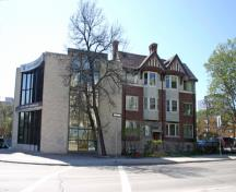 Contextual view, from the southeast, of the Paterson Block, Winnipeg, 2007; Historic Resources Branch, Manitoba Culture, Heritage and Tourism 2007