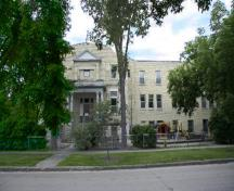 Primary elevation, from the north, of St. Boniface Normal School, Winnipeg, 2007; Historic Resources Branch, Manitoba Culture, Heritage and Tourism, 2007