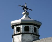 Detail of the main dome of Lakedale Holy Ghost Ukrainian Catholic Church, Angusville area, 2009; Historic Resources Branch, Manitoba Culture, Heritage and Tourism, 2009