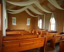 Interior view of Union Point United Church, Morris area, 2009; Historic Resources Branch, Manitoba Culture, Heritage and Tourism, 2009