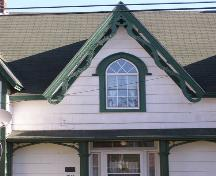 The centre front dormer on the Jonathan Locke House in the Town of Lockeport, N.S.; Heritage Division, NS Dept. of Tourism, Culture & Heritage, 2009