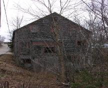 Rear Elevation, LeQuille Mill, LeQuille, 2005; Heritage Division, Nova Scotia Department of Tourism, Culture and Heritage, 2005