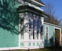 The bay window on the south side on the Enos W. Page House in the Town of Lockeport, NS.; Heritage Division, NS Dept. of Tourism, Culture & Heritage, 2009