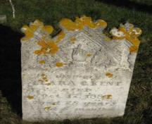 This ornate headstone for Clara Kent is an example of one of the more interesting stones in this cemetery; Grand Manan Historical Society