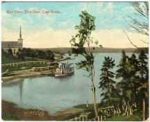 Historic image of Union Presbyterian Church and the Mira ferry at Albert Bridge, Cape Breton, N.S.; Courtesy of the Nova Scotia Museum, 2010