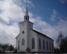 Union Presbyerian Church, front and north elevations, Albert Bridge, N.S.; Heritage Division, NS Dept. of Tourism, Culture and Heritage, 2009