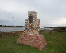Showing memorial cairn; Province of PEI, Donna Collings, 2009