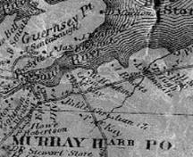 Showing location of cemetery on MacKay land; Lake Map of PEI, 1863